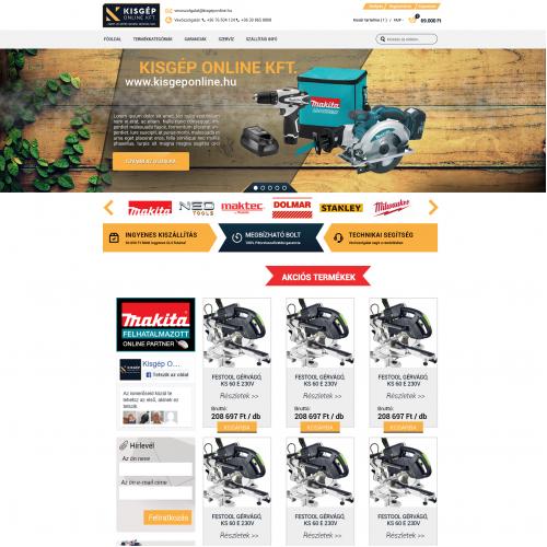 Shop webdesign