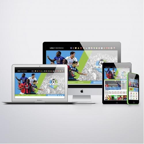 Liga 1 Indonesia alternative web design