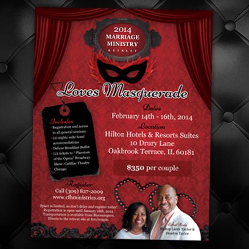 Masquerade Event Flyer Design