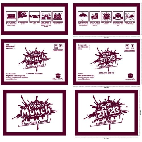 Carton Design Choco Munch 200 gm