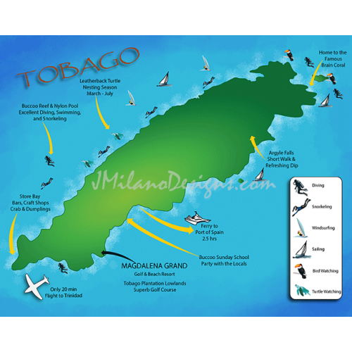 Magdalena Grand Resort of Tobago Map