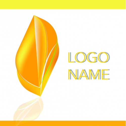 Nature Logo Orange Leaf