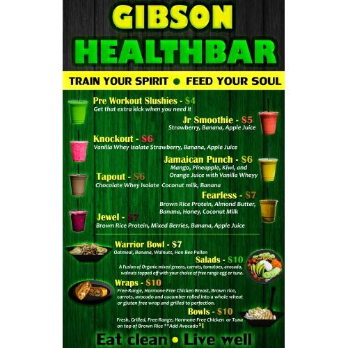 Gibson health bar poster