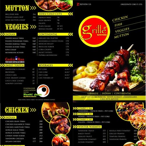 Grill Menu Design