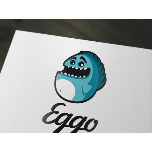 Eggo - a cute and funny monster logo