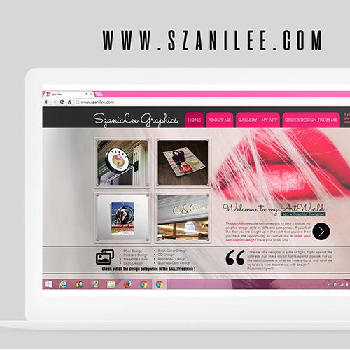 SzaniLee Website Design
