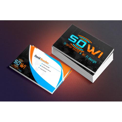 sound / wifi  business card
