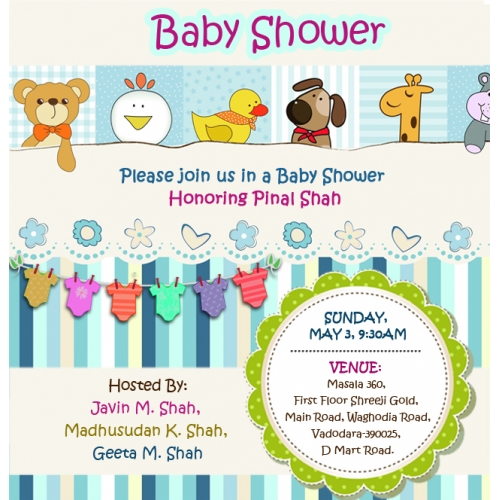 Invitation Card For Baby Shower
