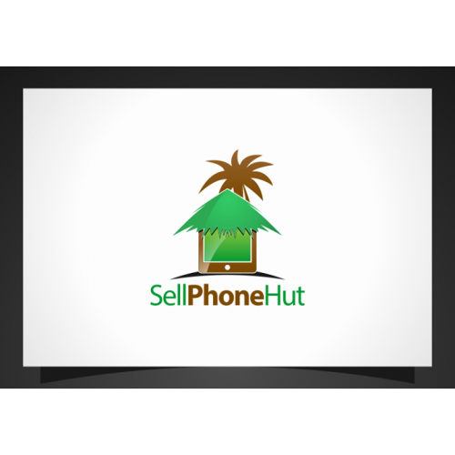 Logo design for cellphone hut