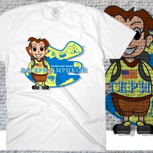 Russian/American Encampment for Boys - T-Shirt Design and Logo Design