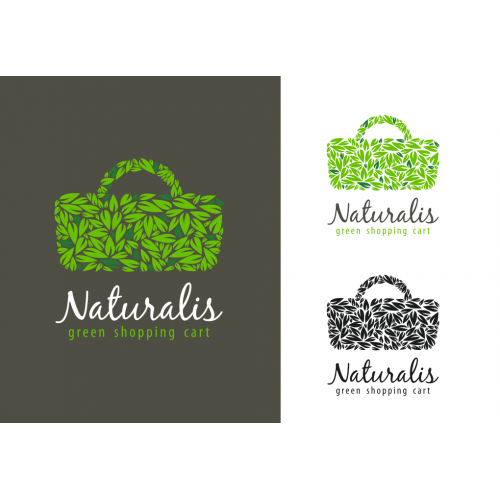 Naturalis green cart logo design