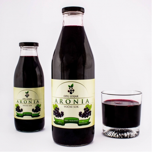 Aronia bottle package design