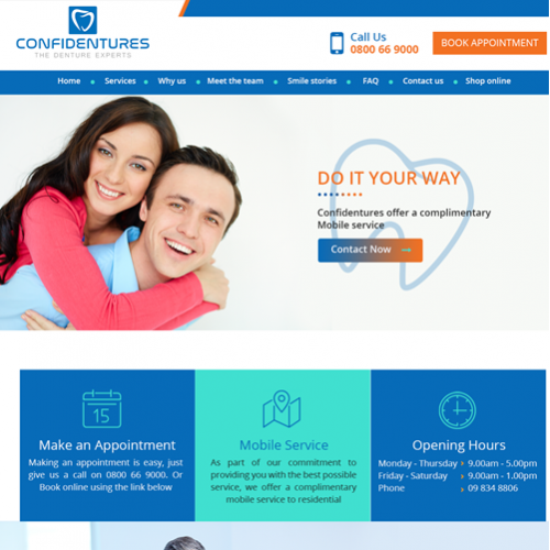 web design for dental clinic