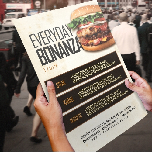Everyday Bonanza - Restaurant Flyer Design