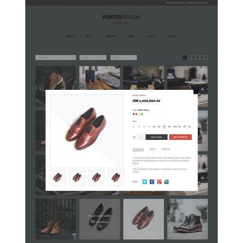 Design Mockup PorteeGoods