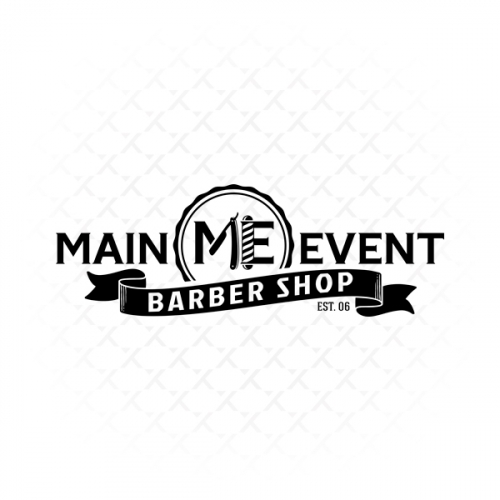 Main Event Barber Shop Logo