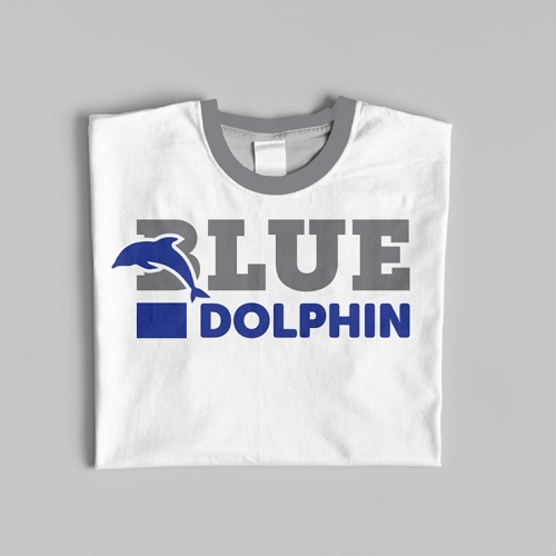 BLUE DOLPHIN , ( logo with t-shirt )