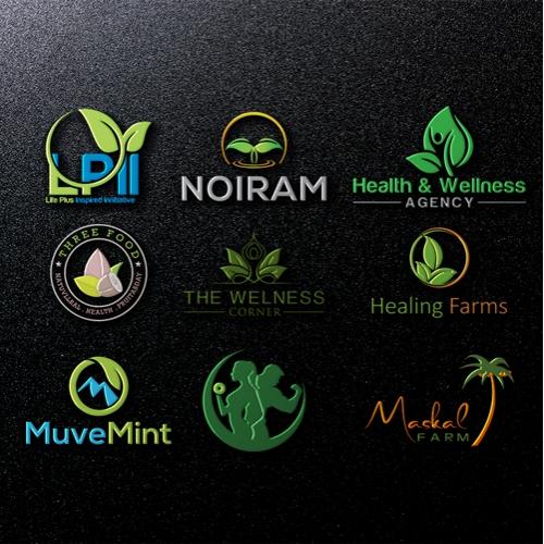 nature gym food wellness  logo