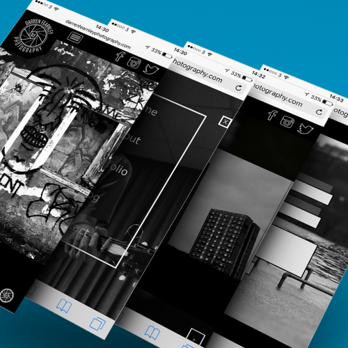 UI Web design for photography portfolio site