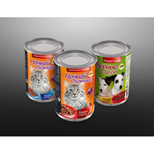 Pet Food Tin Can Labels Design