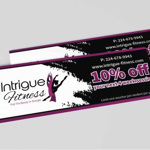 Voucher Design for Intrigue Fitness