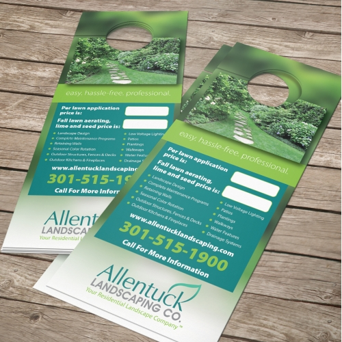 Allentuck Landscaping Co. Door Hanger