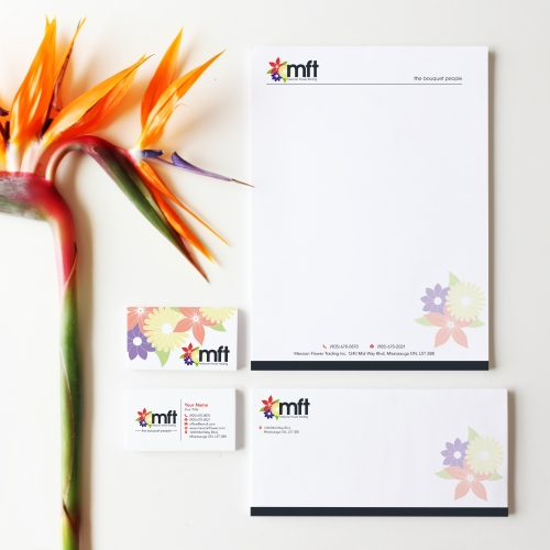 Mexican Flower Trading Stationery Design