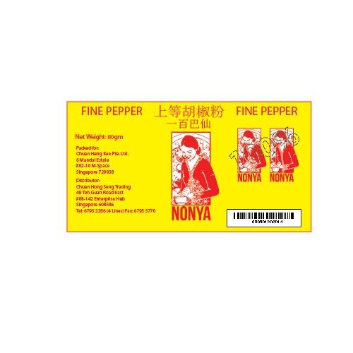 pepper label