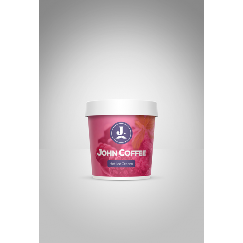 Logo redesign and ice-cream packaging design mockup