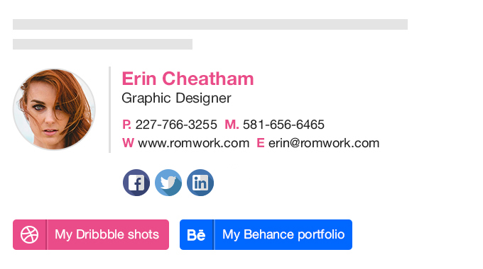 free email signature generator by designhill. Black Bedroom Furniture Sets. Home Design Ideas