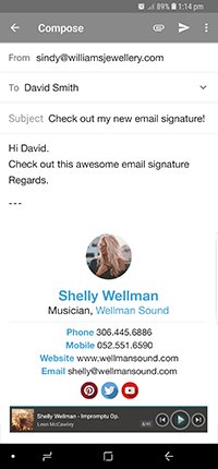 create for free email signature