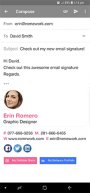mobile email signature