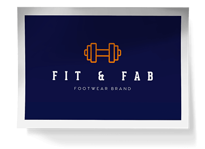 Logo maker create professional logos for free in minutes fit fab logo creator reheart Image collections