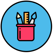 Web design icon with butterflies