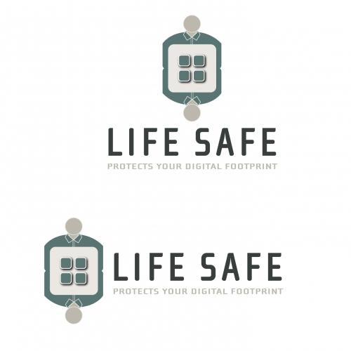 Cyber Digital Footprint Security Logo