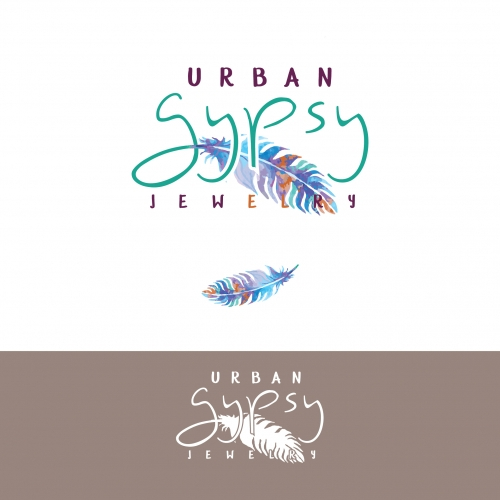 Urban Gypsy gold Logo Design