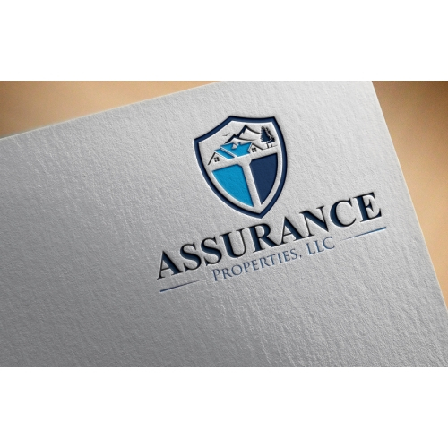 real estate mortgage logo design required by assurance properties llc