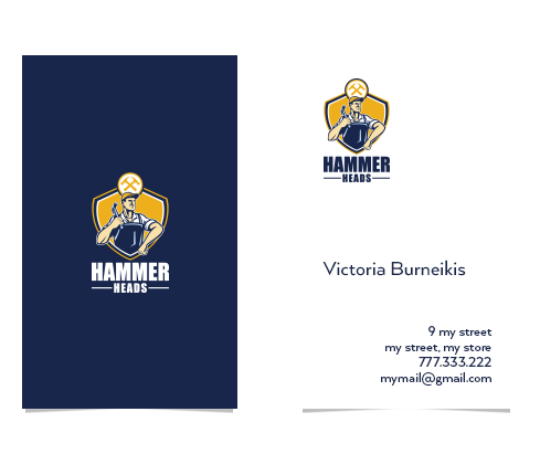Construction Logo & Business Card Designs