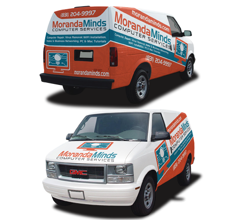 Moranda Minds Car Wrap Design