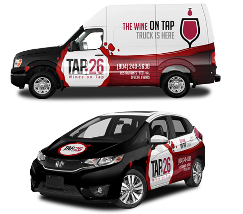 Wine On Tap Wrap Design