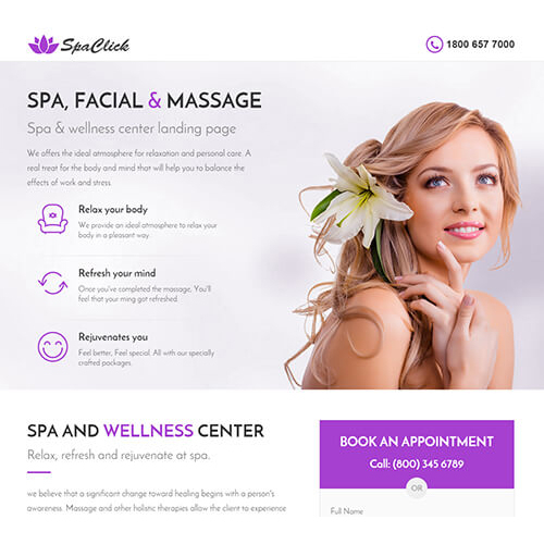 Spa Email Template Design