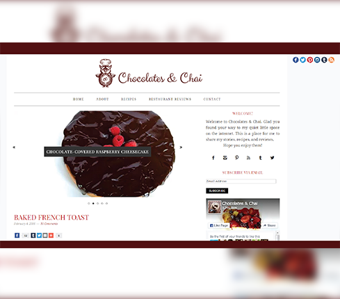Bakery Blog Design