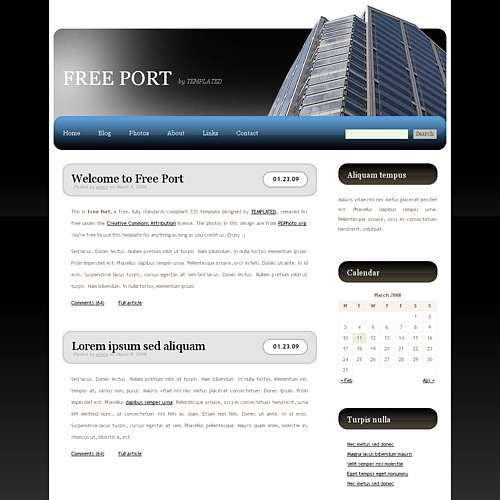 Construction Blog Design