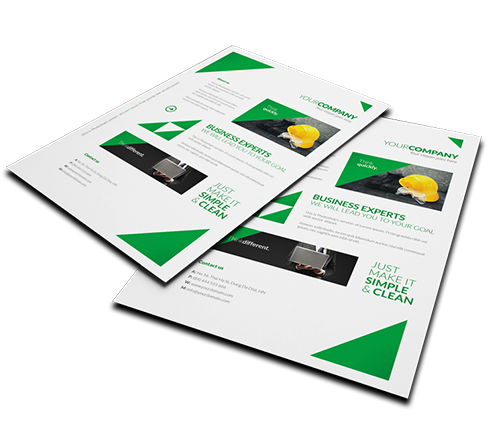 Just Market Leaflet Design Template