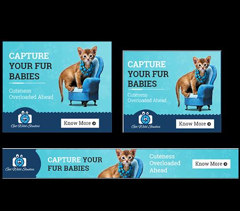 Animal & Pet Banner Ad Design