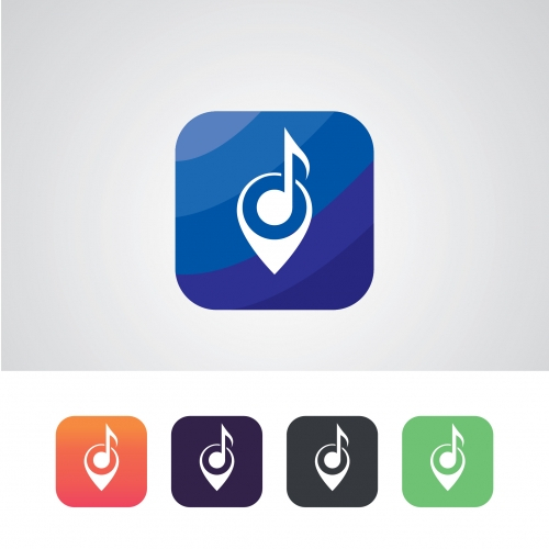 Music Band App Icon Design