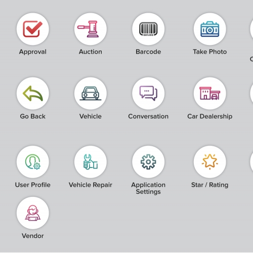 Automotive App Icon or Button Design