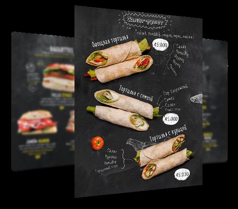 Roll Restaurant Menu Design