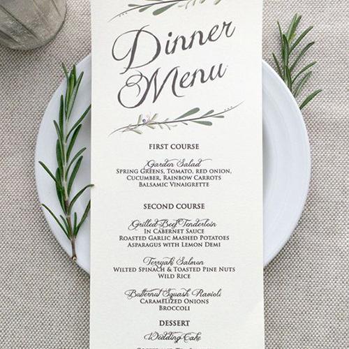Wedding Menu Design Template