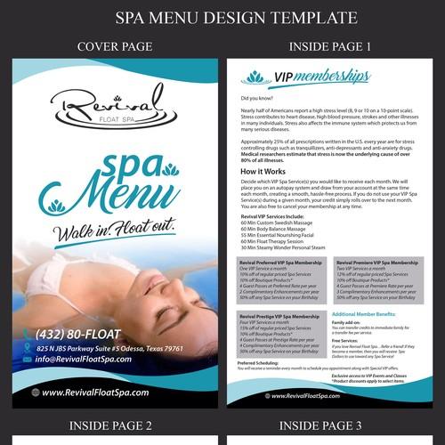 Spa Menu Design